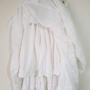 8278537a4c1 L.A. Blues Skirts -  PLUS SIZE  White Cotton Broom Skirt NWT